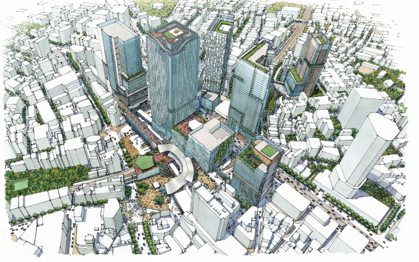Overall Roadmap for Redevelopment Project in Shibuya